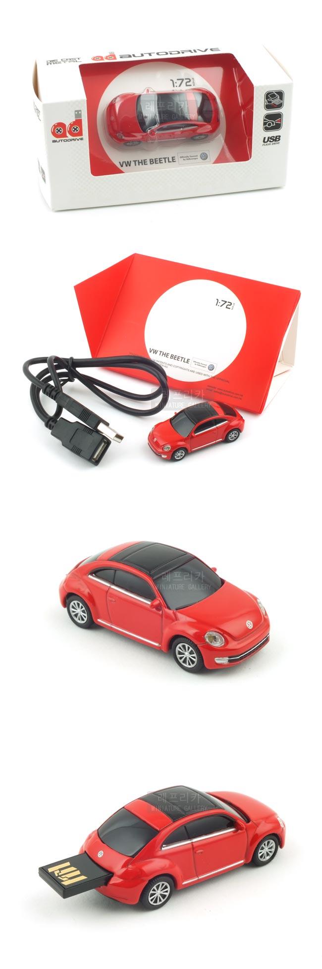 폭스바겐 더 비틀 USB 16GB (WE002060RE) - 레프리카, 70,000원, 캐릭터형 USB 메모리, USB 16G